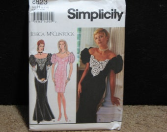 Simplicity Pattern 8823 from 1994 Jessica McClintock Collection, Uncut