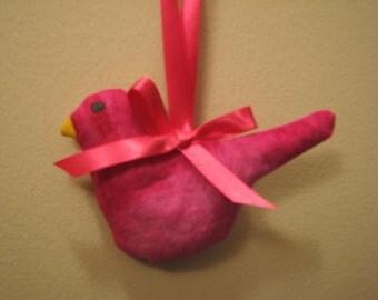 On Sale Now Hot Pink Hanging Bird Lavender Sachet