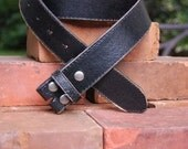Women's or Men's Distressed Vintage Style Black Leather Belt Strap, Unisex Leather Belt Strap, Black, Brown, or White Leather Belt Strap