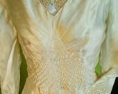 Vintage 1920s Wedding Dress Bridal Gown Silk Flapper dress