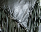 1970s 1980s fringed leather motorcycle leather jacket with funky red lining easy rider