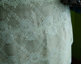 High waisted Skirt with Antique lace SAMPLE SALE