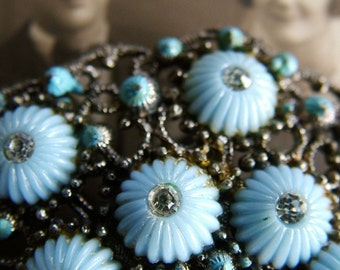 Pale Turquoise Blue Vintage Brooch