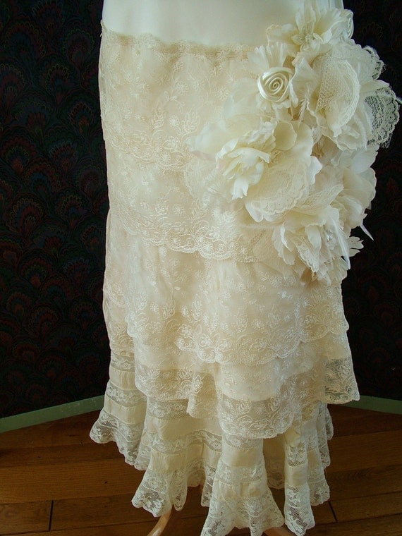 RESERVED Wedding Dress Bridal Gown Handmade 1920s with Vintage Lace ON SALE sale