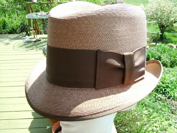 Vintage Dobbs Straw Fedora 7 eighth Hat