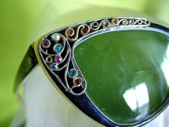 Retro Vintage 1940s Rhinestone Sunglasses Antique Glasses Frames