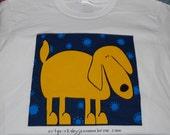 Yellow Dawg Art T-Shirt - Ladies Screenprinted T-Shirt