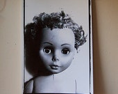 Lisa Vintage Doll Fine Art Black and White Photography Print for Home Decor Wall Hanging.