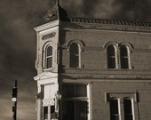 Historical Building Photograph Carlsbad New Mexico Pat Garrett Bonnie and Clyde Sepia 13x20 Photograph