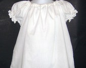 Classic White Peasant Top Sizes 12 month 18 month  2T 3T 4T 5yr 6yr 7yr