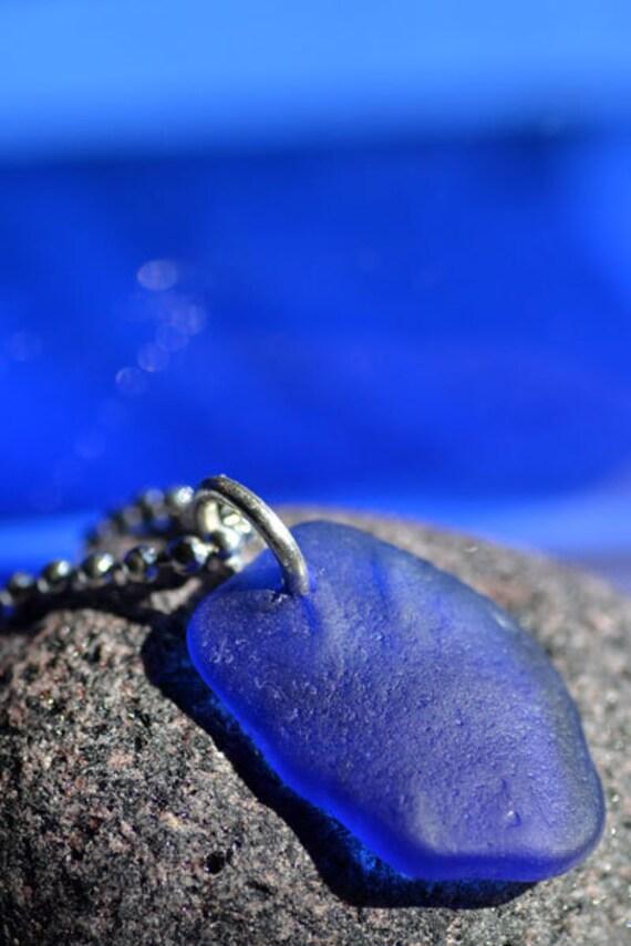 Beautiful Blue - Sea Glass Pendant
