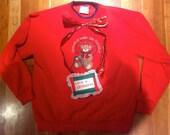 Beary Cute. Beary Ugly. Christmas Sweater. GRANDMA - themed. Size L.