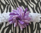 Sweet Shades of Purple-Korker Style Boutique Bow and Headband