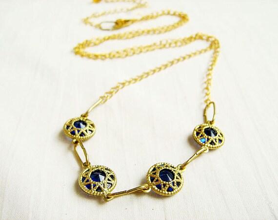 Art Deco Chain Necklace, Simple Gold Necklace