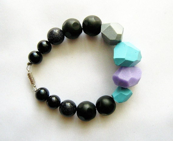 Tropical breeze geo bracelet - handmade geometric jewelry -  Rare Diamonds Collection