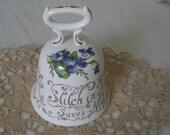 Vintage Staffordshire England Bone China Proverb Series Bell