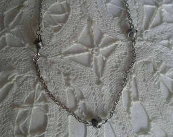Vintage Tie the Knot Silver Plated Choker