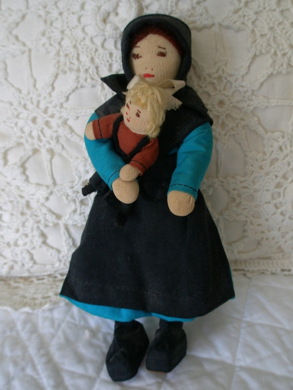 Vintage Signed Pennsylania Dutch Doll