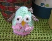 Hootie Tootie Hand crafted crocheted  little owl  (Special sale)