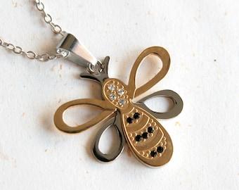 Honey Sucker - Cute Honey Bee Necklace (N292)