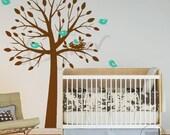 NEW DESIGN Birds Nesting Tree Hatching Egg (LARGE) - dd1037 - Kids Nursery Vinyl Wall Sticker Decal Art