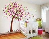 Kids Wall sticker Wall decal Children Wall Decal Art- Trailing Cherry Blossom Tree decal - dd1012