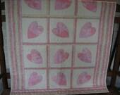Crazy Hearts Baby Quilt