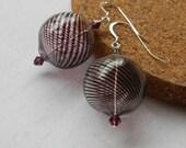Purple Glass Earrings Hollow glass Earrings Womens Fashion Jewelry Dangle Earrings