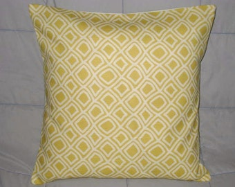 Pillow.Yellow. Cream. Geometric. 18 x 18. Accent Pillow Cover. Decorative Pillow Cover