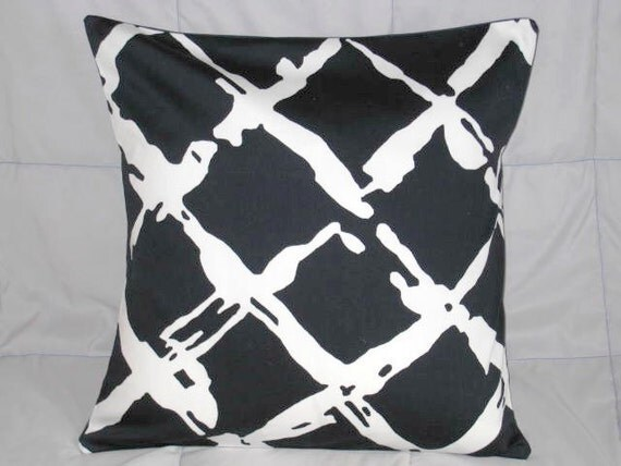 Decorative Pillow Cover. Navy. Blue. White. Nautical. Geometric. 16 x 16. Accent Pillow