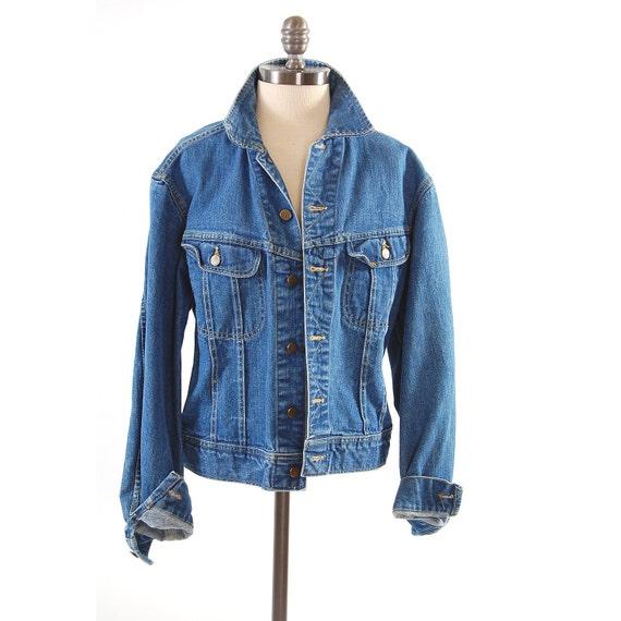 Vintage LEE denim jean jacket / Union Made sanforized / Soft and worn in