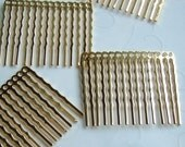 New Low Price -- 6 pieces of Gold Plated 14 Holes Hair Comb - 44 x 36 mm