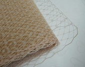 1 Yard 9 inches wide Birdcage Russian/French Veiling -- BEIGE