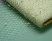Weekly Promos -- 1 Yard 12 inches wide IVORY with Chenille Dots English Merry Widow Veiling