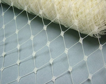 Weekly Promos -- 1 Yard 12 inches wide IVORY English Merry Widow Veiling