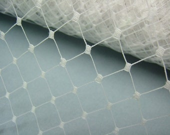 Weekly Promos -- 1 Yard 12 inches wide WHITE English Merry Widow Veiling