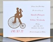 Save The Dates / Wedding Save The Dates - Penny Farthing Ride Away With Me
