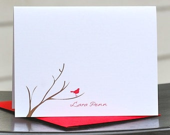 Cardinal Stationery, Bird Stationery, Cardinals, Cardinal Thank You Notes, Cardinal Note Cards, Thank You Cards, Christmas