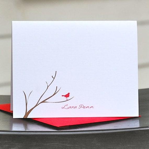 Cardinal Stationery, Bird Stationery, Cardinals, Cardinal Thank You Notes, Cardinal Note Cards, Thank You Cards, Christmas
