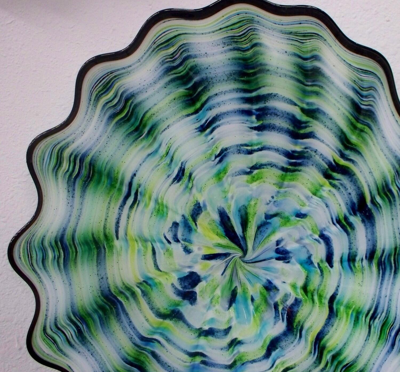beautiful hand blown glass art wall platter 2363 by oneilsarts. Black Bedroom Furniture Sets. Home Design Ideas