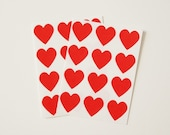 Valentines Day Red Heart Envelope Seal Stickers - Set of 48
