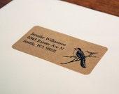 Custom Return Address Labels - Bird Address Labels, Rustic Wedding
