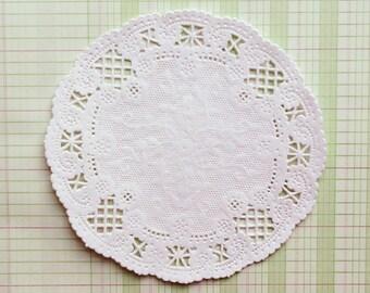 White Lace Paper Doilies - Leah Style, Set of 100 Doilies, 5 Inch Round Doilies, Paper Doilies, Gift Wrap, Wedding Favor
