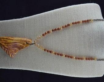 Glazed Ceramic Pendant Necklace