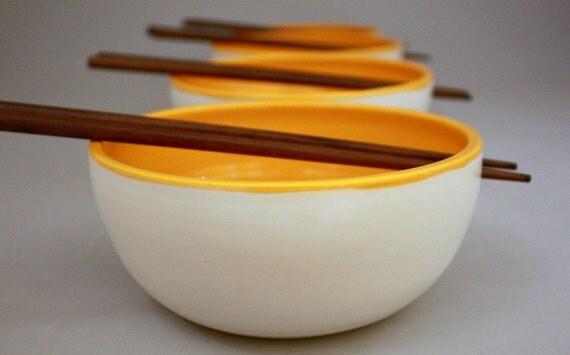 Chopstick Bowls in Clementine