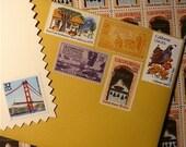 California Gold Vintage Postage Greeting Card