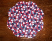 Sparkle Patriotic Stars Candlemat