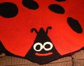 Lady Bug Baby Afghan