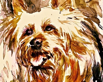 Cairn Terrier Watercolors dog prints SIGNED by the artist CAROL RATAFIA Double Matted to 16x20