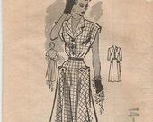 Marian Martin 9187 Sz 32 Scalloped Shirtwaist from the late 1940s